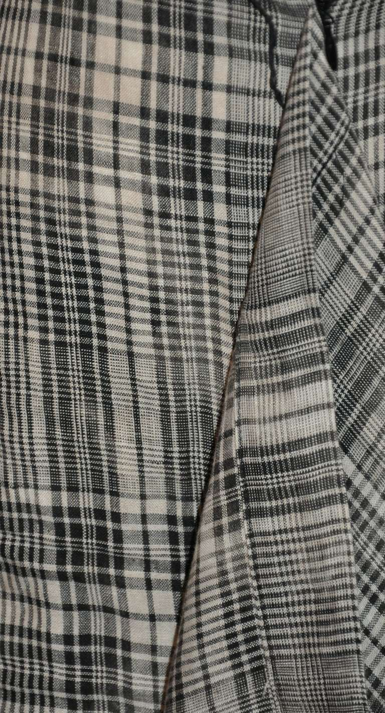 Vivienne Westwood Black & White Linen Plaid Deconstructed Skirt For Sale 1