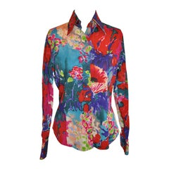 ETRO Multi-Color Floral Print Blouse