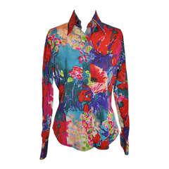 ETRO Multi-Color Floral Print Blouse