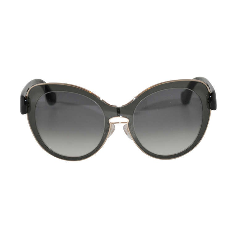 "Balenciaga ""Limited Edition"" Sunglasses with Gold Frame Edges Accents"