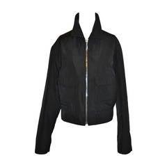 Yves Saint Laurent Men's Black Zipper Jacket