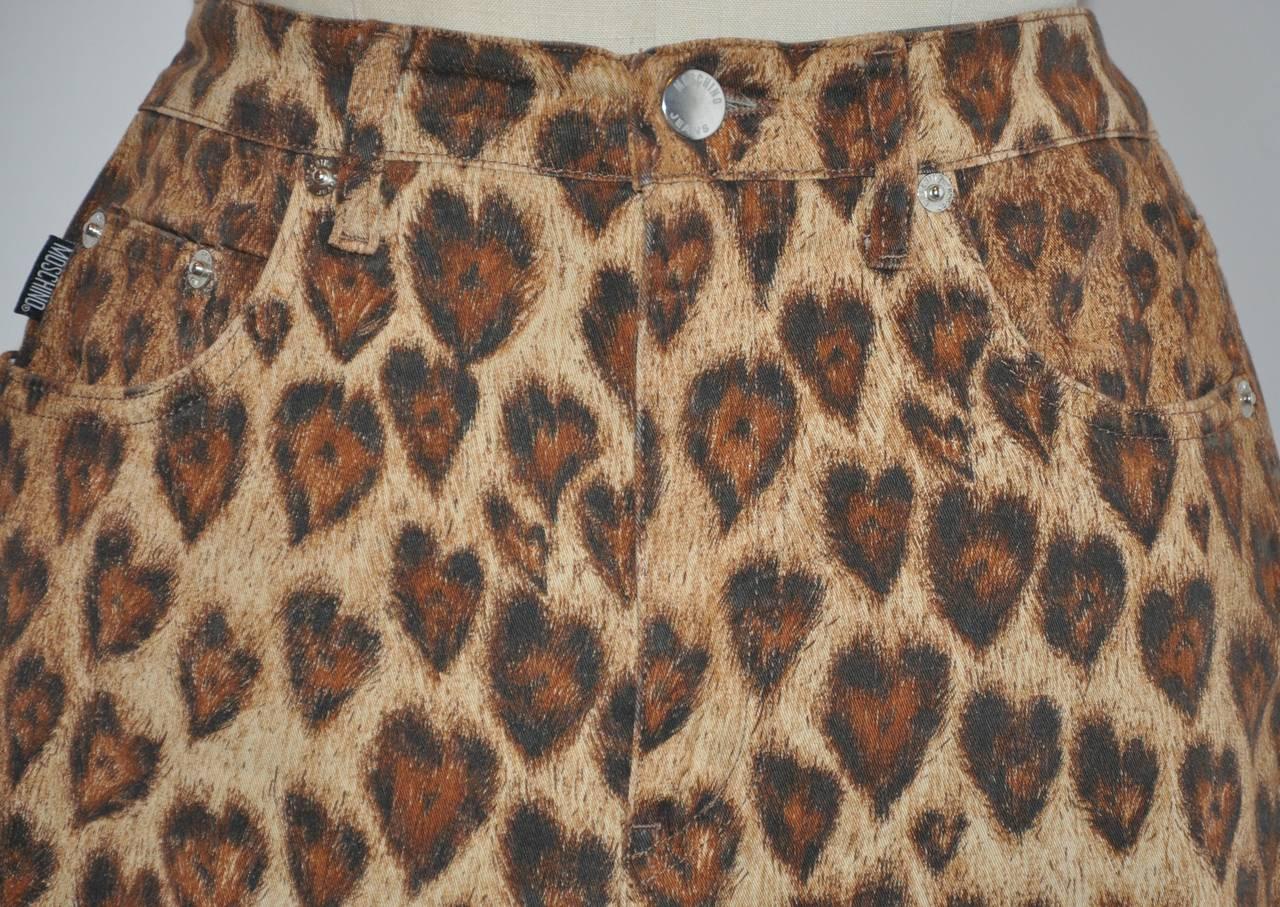 Moschino Leopard Print Five-Pocket Stretch Cotton Pants 3