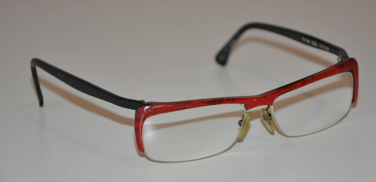 """Alain Mikli Red and Black """"Confetti"""" Eyeglasses For Sale ..."""