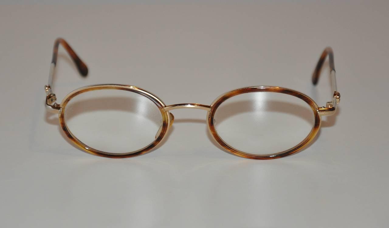 Frame glasses versace - Gianni Versace Gold Hardware Frame With Tortoise Shell Eyeglasses 3