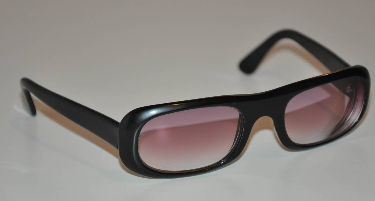 Cutler and Gross Thick Black Lucite Sunglasses For Sale at ...