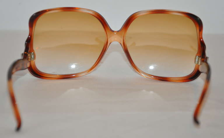 Emilo Pucci Tortise-Shell Square-Frame Sunglasses In Excellent Condition For Sale In New York, NY