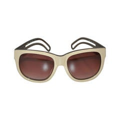 Chloe Cream and Smoked Lucite with Double-Arm Sunglasses