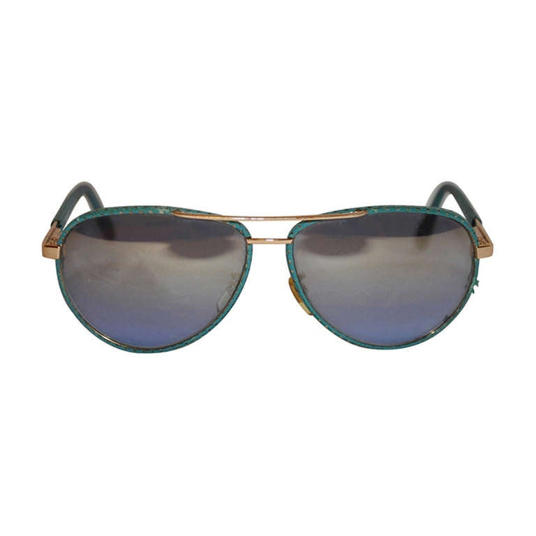 Versace Gold Hardware with Tortoise Detail Mirrored Sunglasses