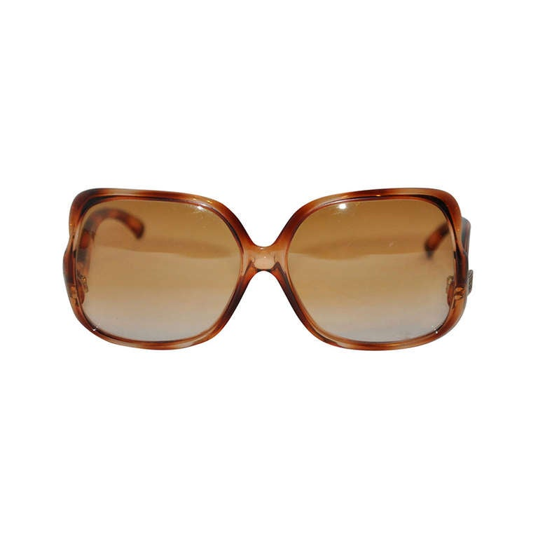 Emilo Pucci Tortise-Shell Square-Frame Sunglasses For Sale