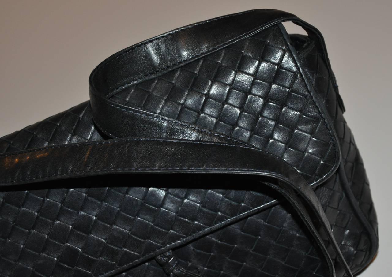 Bottega Veneta Signature Woven Lambskin with Tassles Clutch/ Shoulder Bag For Sale 1