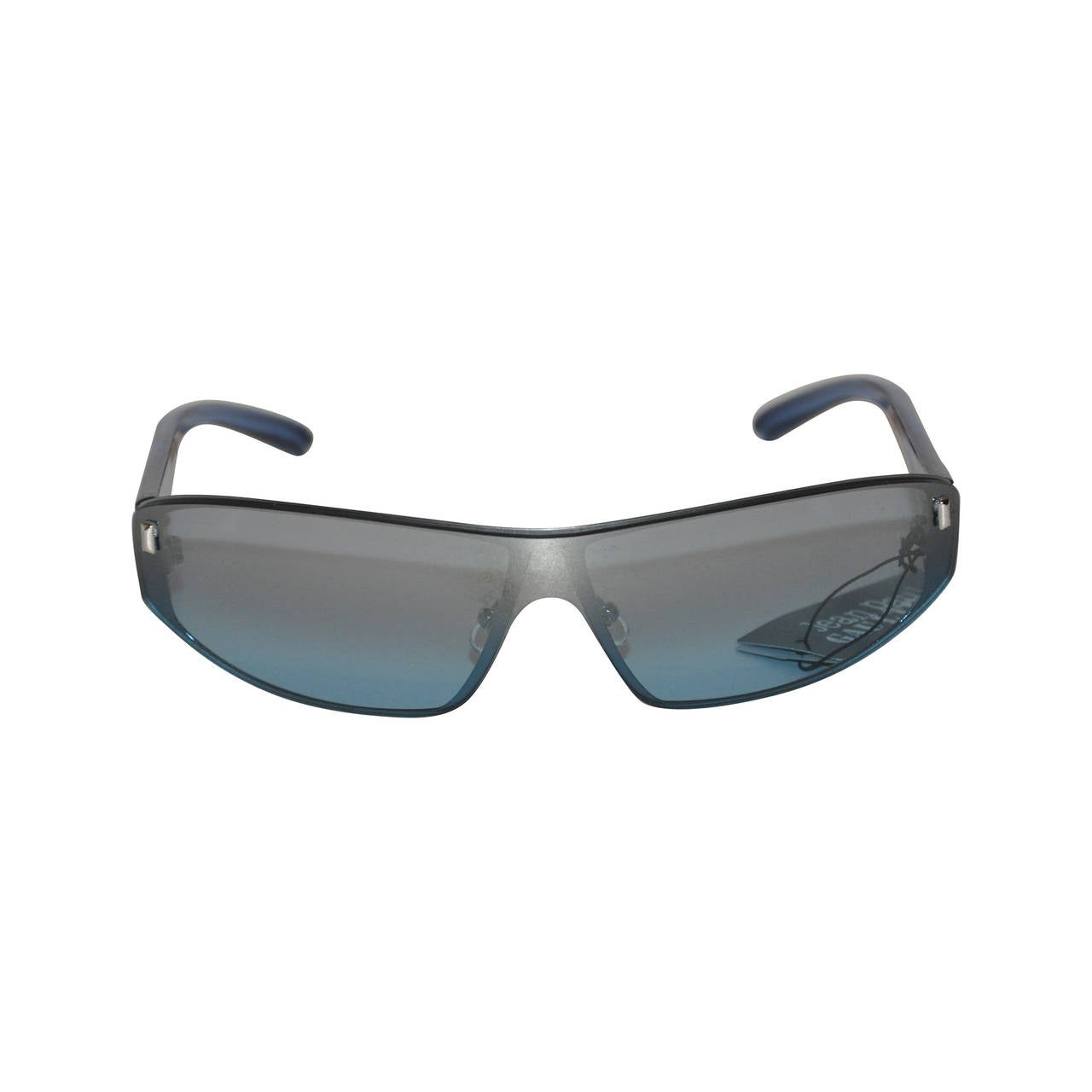 Jean Paul Gaultier Blue Lucite with Blue Shade Sunglasses