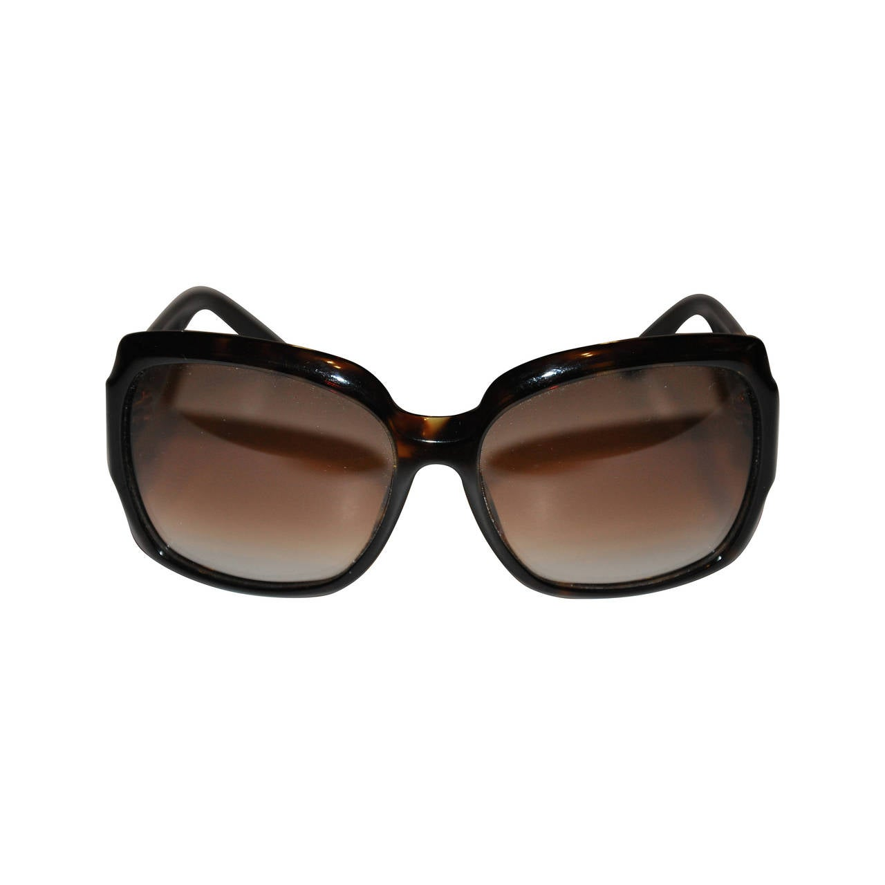 Yves Saint Laurent Black Lucite with Signature Name Sunglasses