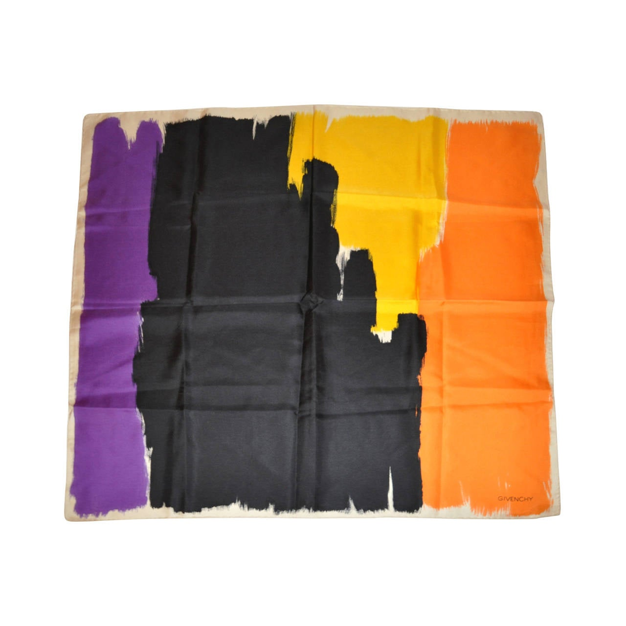 Givenchy Bold Abstract Silk Scarf