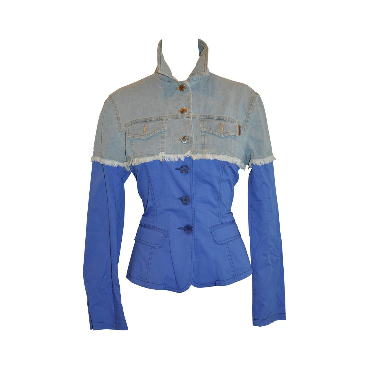 Moschino Blue and Denim Cotton Jacket