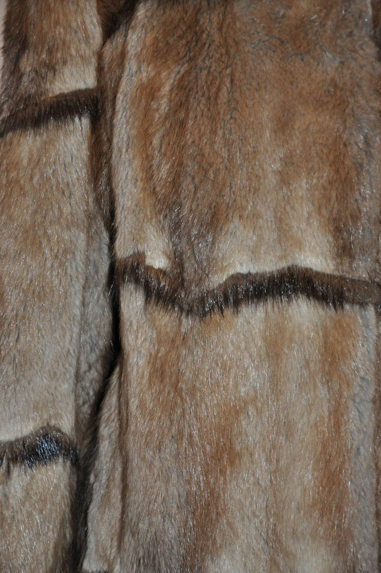 Full-Length Vintage Mink Coat with Ruffle Collar 3