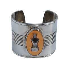 "Jean Paul Gaultier Bold Silver with ""Locket"" Compartment Cuff"