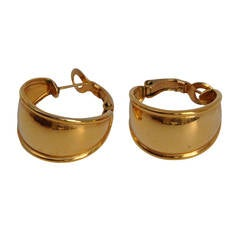 Napier Gilded Gold Wide Loop Ear Clips