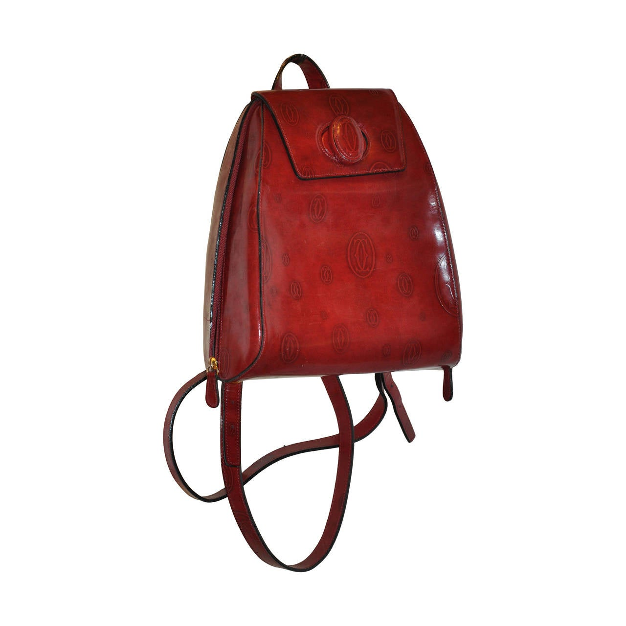 Cartier Signature Burgundy Backpack For Sale