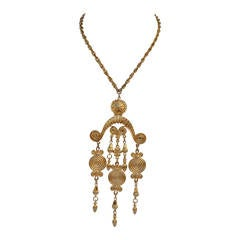 Vendome Gold Necklace with Large Mobile Pendant