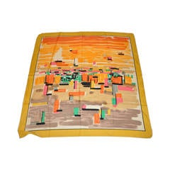 Pierre Cardin Multi-Color Bold Abstract Silk Scarf