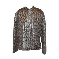 "Givenchy ""Nouvelle Boutique"" Gold Lame & Black Quilted Evening Jacket"
