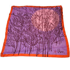 "Vera Bold Multi-Color ""Moon"" Silk Scarf"