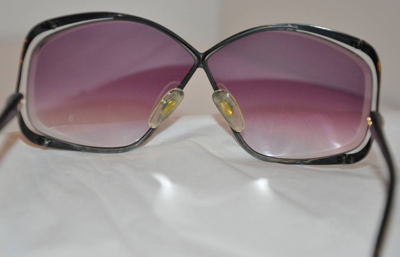 Christian Dior Black Hardware frame with Violet Lens Sunglasses 2