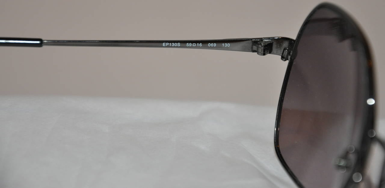 Emilio Pucci Black Hardware with Multi-Color Arms Sunglasses 5