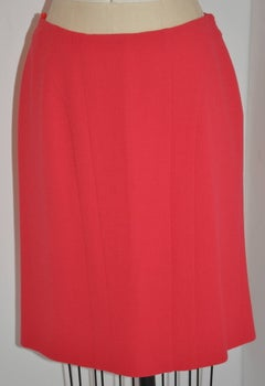 Luca Luca Fully Lined Coral Wool Crepe Detailed Skirt