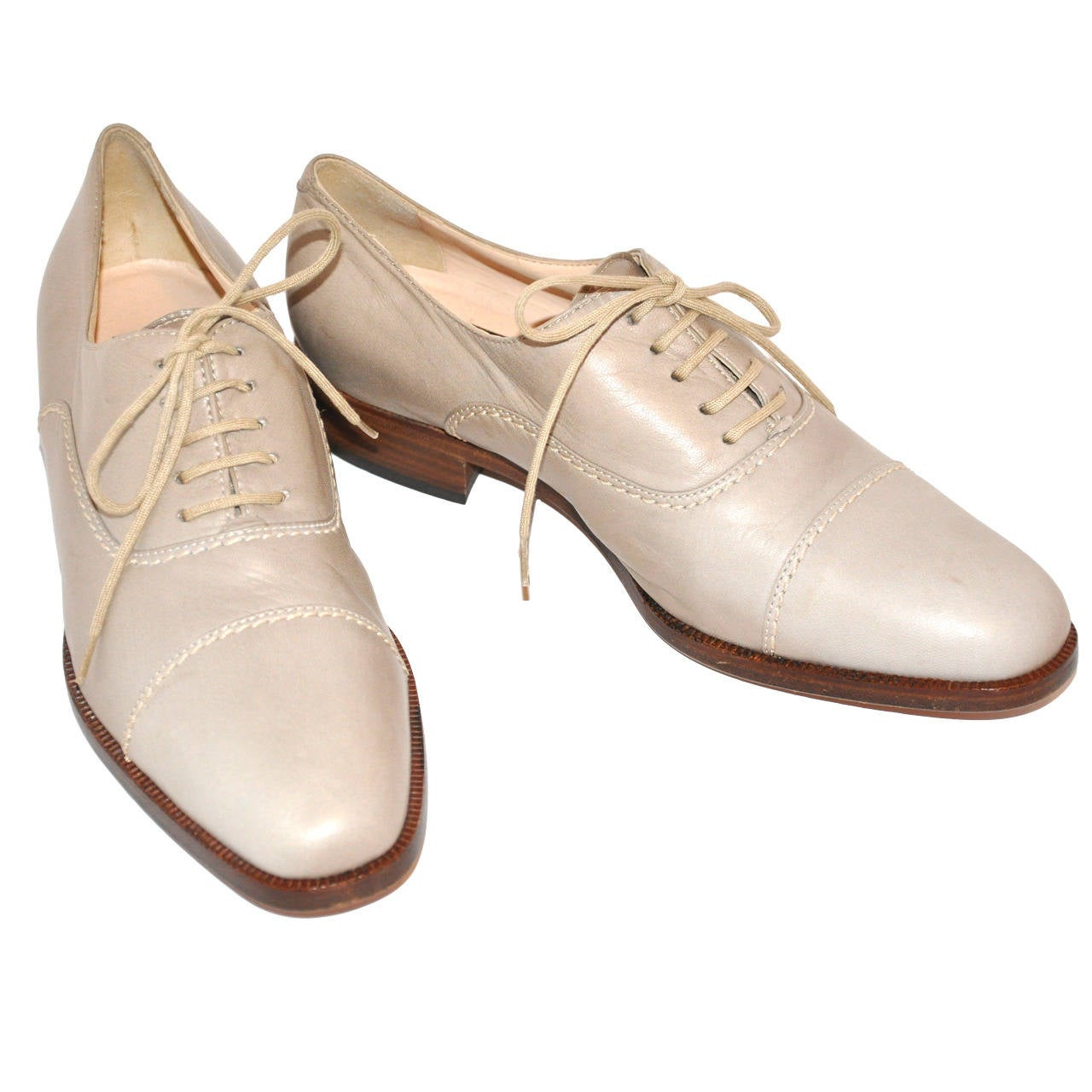 Susan Bennis Warren Edwards Hand-Made Lace-Up Shoes For Sale