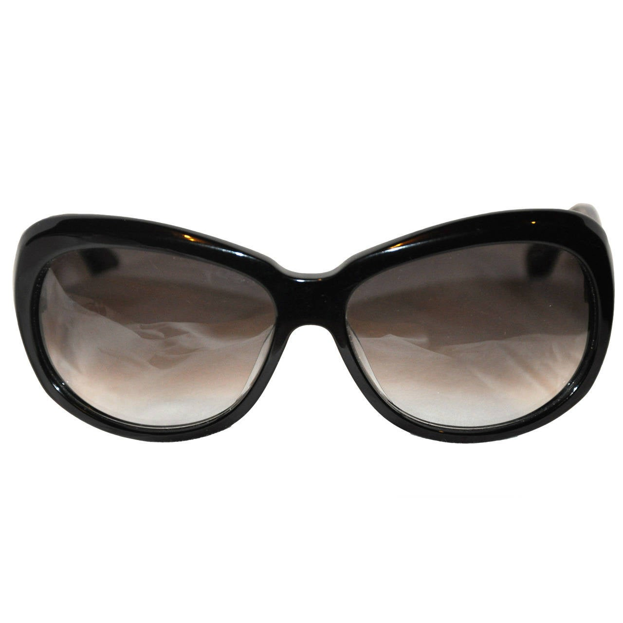 DITA Huge Black Lucite with Silver Hardware Sunglasses For Sale at ... e3f58acec