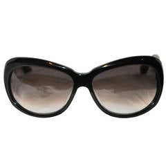 DITA Huge Black Lucite with Silver Hardware Sunglasses