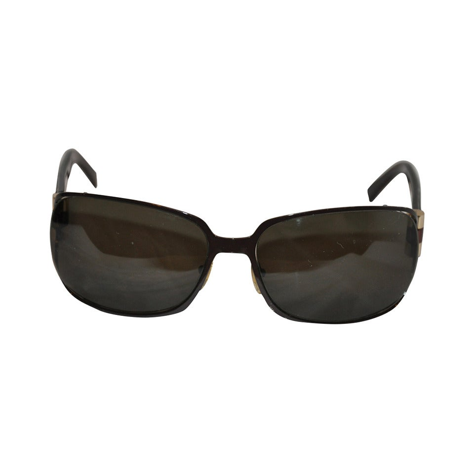 Yves Saint Laurent Black Hardware with Tortoise Shell Arms Sunglasses