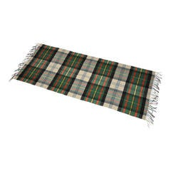 Large 70% Cashmere 30% Wool Multi-Color Plaid with Fringe Scarf