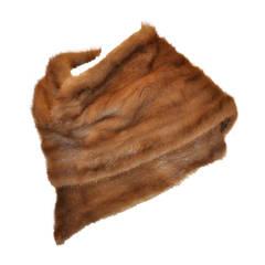 Warm Brown Lightweight Mink Wrap-Around Scarf