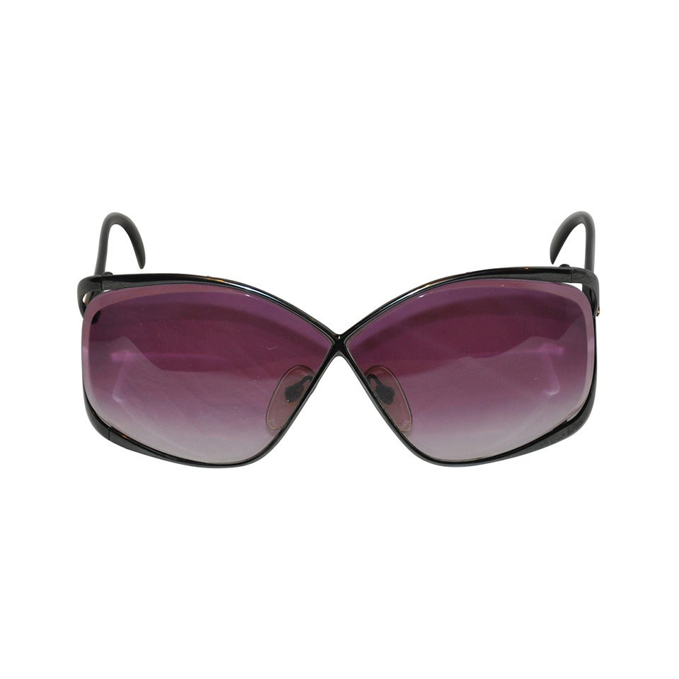 Christian Dior Black Hardware frame with Violet Lens Sunglasses 1