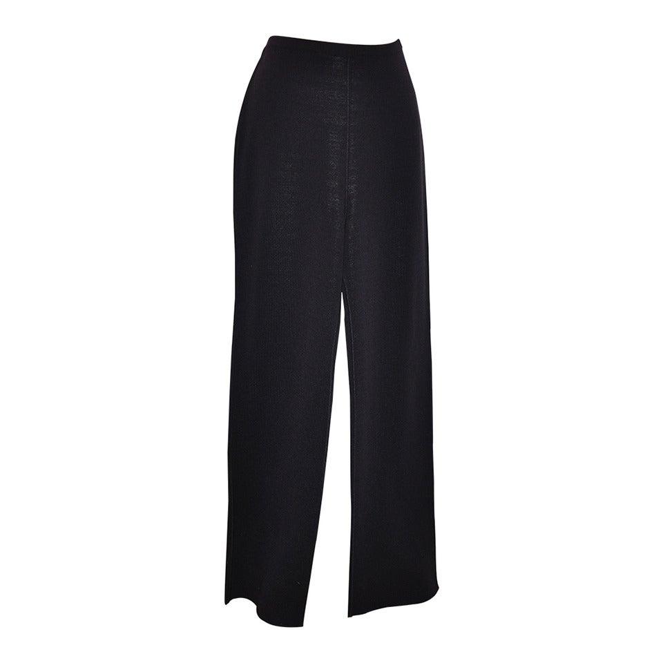 Missoni Deep Plum Wool-Blend Knit Trousers