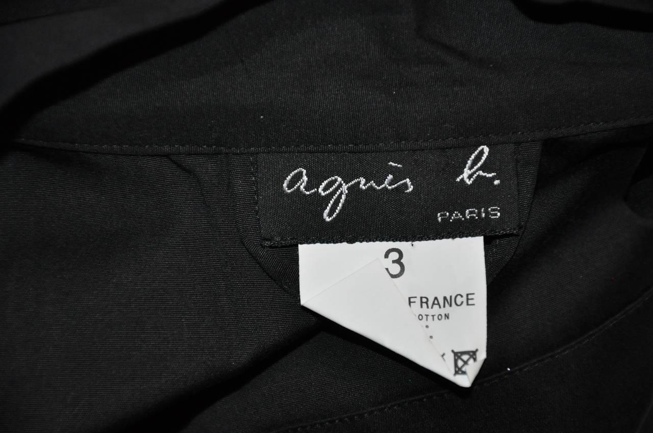 Women's Agnes B' Black Kimono-Style Wrap Top For Sale