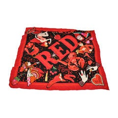 "Bob Mackie ""RED"" Silk Scarf"