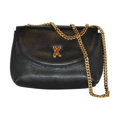 Paloma Piccaso Black Calfskin with Gold Hardware Clutch & Shoulder Bag