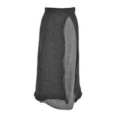 Giesswein of Austria Gray Wool Boucle Skirt