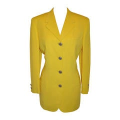 "Gianni Versace ""Couture"" Bold Yellow with Gild Gold Hardware Jacket"