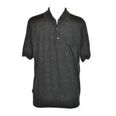 Prada Men's 100% Cashmere Charcoal Pullover
