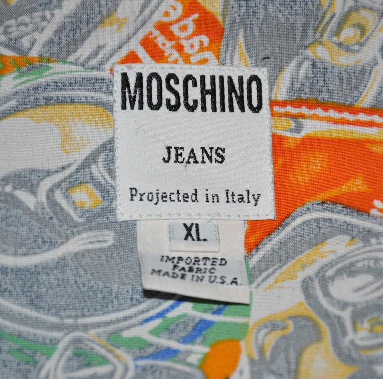 "Moschino Men's Bold ""Soda Cans"" Short-Sleeve Button Shirt 5"