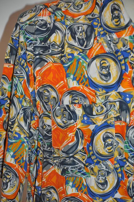 "Moschino Men's Bold ""Soda Cans"" Short-Sleeve Button Shirt 4"