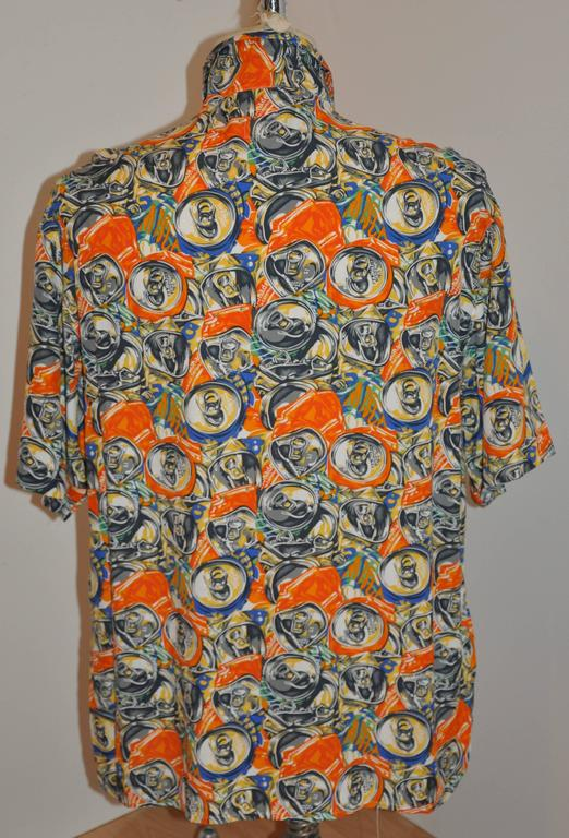 "Moschino Men's Bold ""Soda Cans"" Short-Sleeve Button Shirt 2"