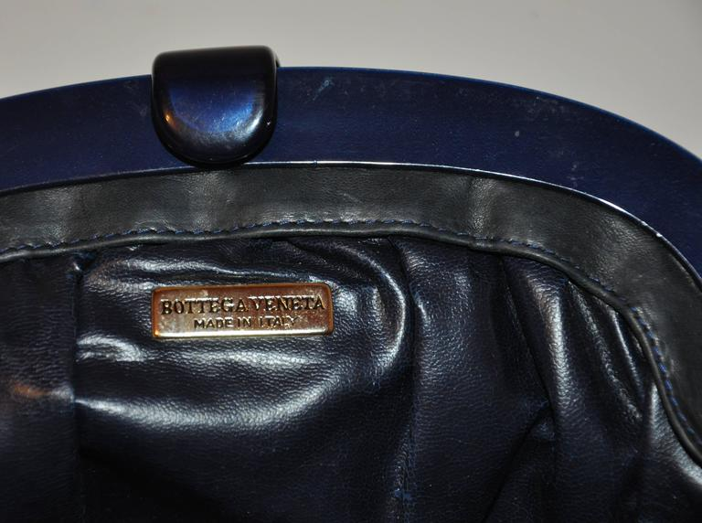 "Bottega Veneta ""Shades of Gray & Black"" Signature Woven Lambskin Clutch For Sale 1"