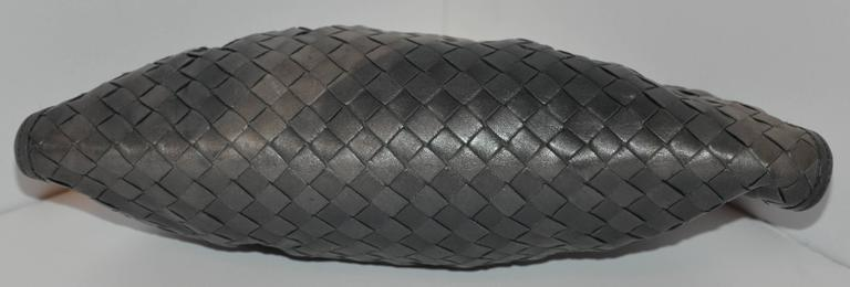 "Women's Bottega Veneta ""Shades of Gray & Black"" Signature Woven Lambskin Clutch For Sale"