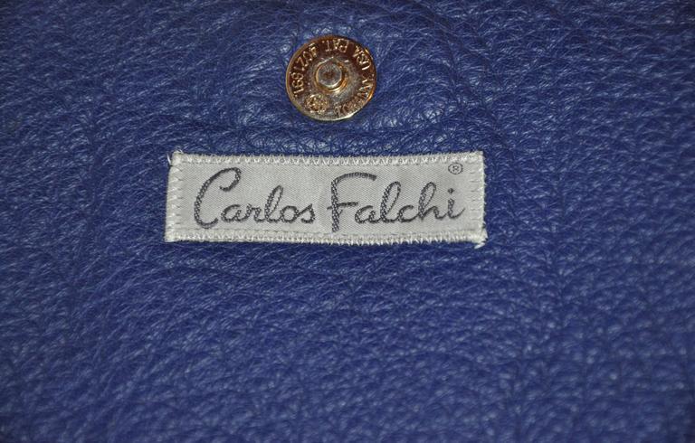 Gray Rare Carlos Falchi Multi-Skins Multi-Color Large Shoulder Bag & Clutch For Sale