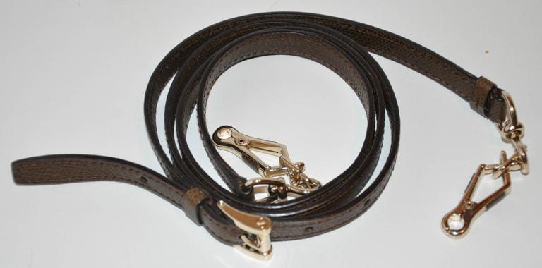 Valextra Large Textured Brown Calfskin Zippered Handbag  7